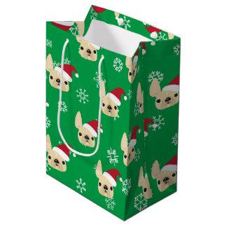 French Bulldog Holiday Gift Bag Medium Gift Bag