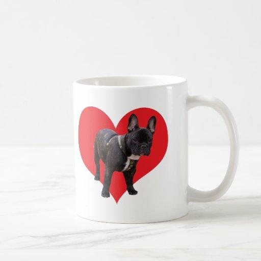 French Bulldog, I love heart, mug, gift idea