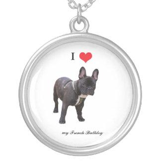 French Bulldog I love heart, necklace, gift, idea