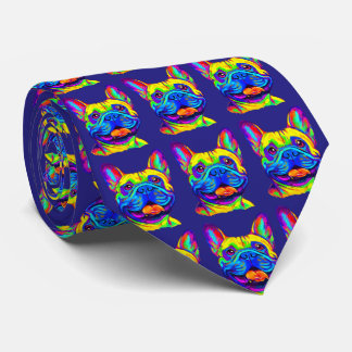 French Bulldog in Colors Tie