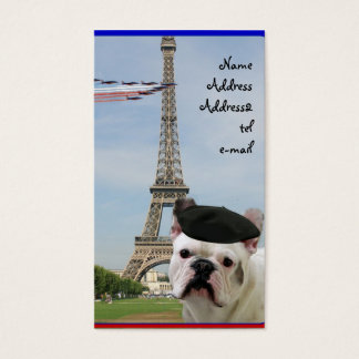 French Bulldog in Paris business card