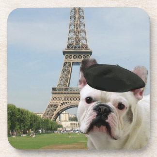 French bulldog in Paris Drink Coaster