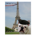 French bulldog in Paris Posters