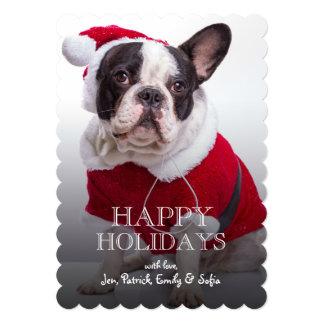 French Bulldog In Santa Costume For Christmas 13 Cm X 18 Cm Invitation Card
