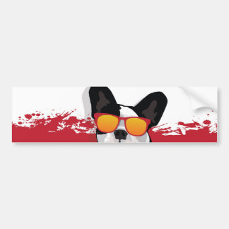 French Bulldog in Sunglasses Bumper Sticker