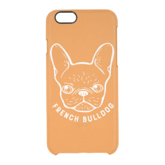 French Bulldog Line Art Clear iPhone 6/6S Case