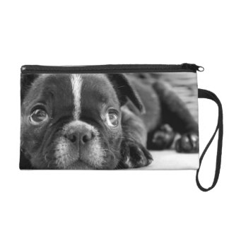 French bulldog look wristlet purses
