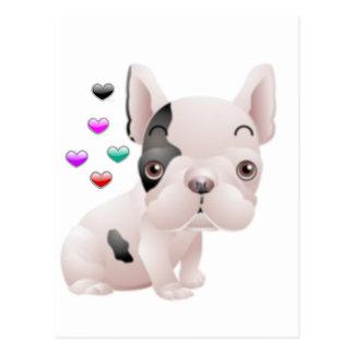 French Bulldog Love Postcard
