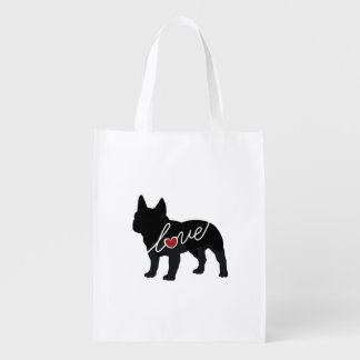 French Bulldog Love Reusable Grocery Bag