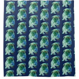 French Bulldog Mandala Art Shower Curtain