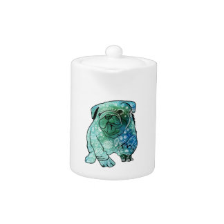 French Bulldog Mandala Art Small Teapot