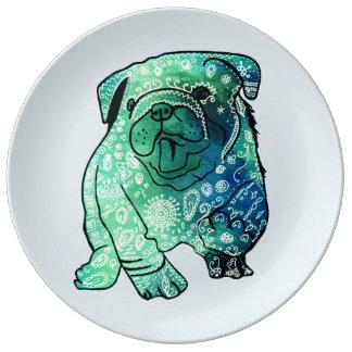 French Bulldog Mandala  Decorative Porcelain Plate
