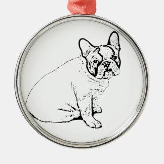 French Bulldog Metal Ornament