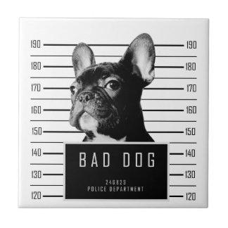 French Bulldog Mugshot Shirt Ceramic Tile