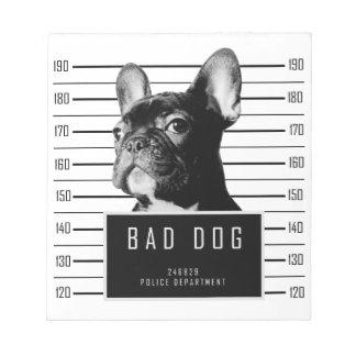 French Bulldog Mugshot Shirt Notepad
