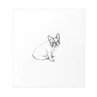 French Bulldog Notepad