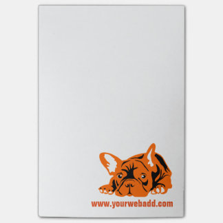 French Bulldog orange Post-it® Notes