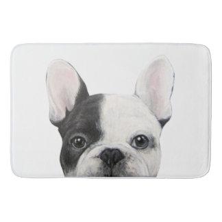 French Bulldog, Original painting by miart Bath Mat