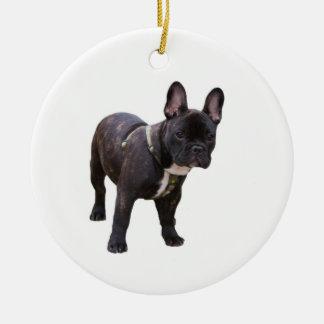 French Bulldog ornament, gift idea Ceramic Ornament