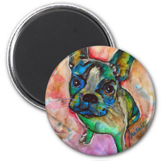 FRENCH BULLDOG PAINTING MAGNET