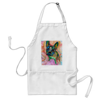 FRENCH BULLDOG PAINTING STANDARD APRON