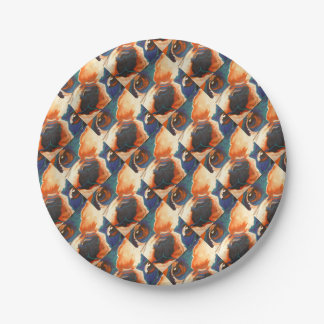 French Bulldog Paper Plate