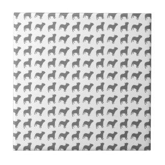 French Bulldog Pattern Ceramic Tile