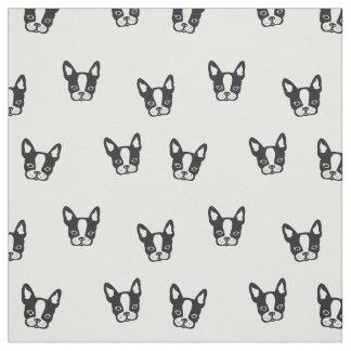 French Bulldog pattern fabric