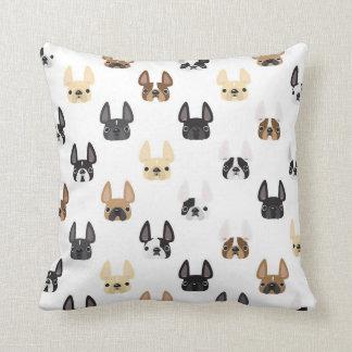 French Bulldog Pattern Pillow