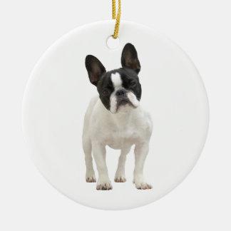 French Bulldog photo ornament, gift idea Ceramic Ornament