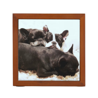 french bulldog pile of puppies.png pencil holder