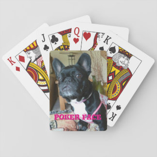 "French Bulldog ""Poker Face"" Playing Cards"