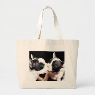 French bulldog puppies tote bag