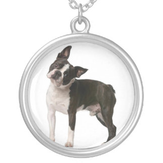 French bulldog - puppy dog - frenchie dog silver plated necklace