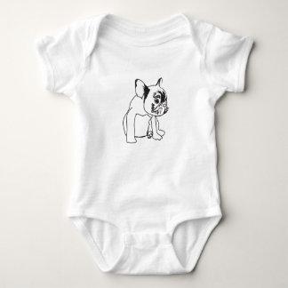 French Bulldog  Puppy Drawing Jersey Bodysuit