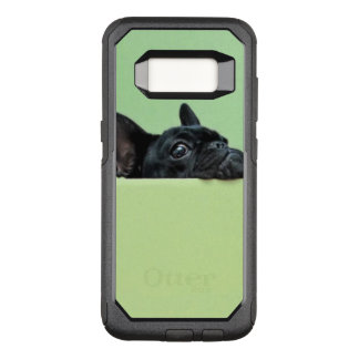 French Bulldog Puppy Peering Over Wall OtterBox Commuter Samsung Galaxy S8 Case