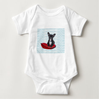 French Bulldog Puppy Portrait Baby Bodysuit
