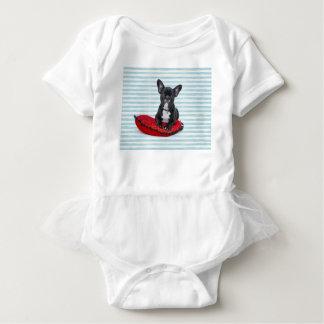 French Bulldog Puppy Portrait Baby Bodysuit