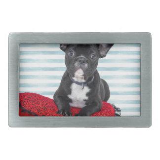 French Bulldog Puppy Portrait Belt Buckle