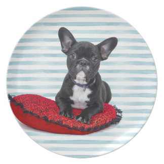 French Bulldog Puppy Portrait Plate