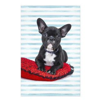 French Bulldog Puppy Portrait Stationery