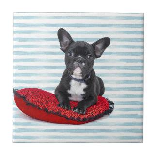 French Bulldog Puppy Portrait Tile