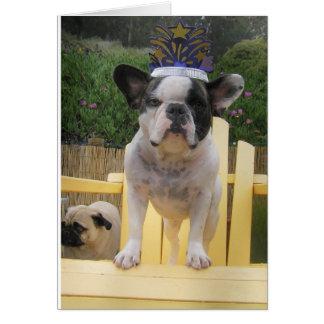 French Bulldog Queen Card