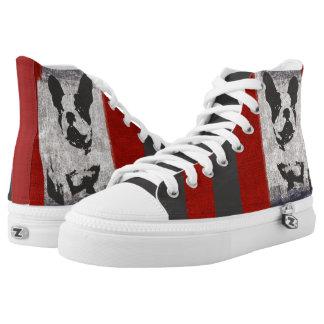 French Bulldog Red Gray Stripe Sneaker