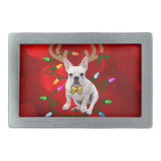 French Bulldog Reindeer Belt Buckles