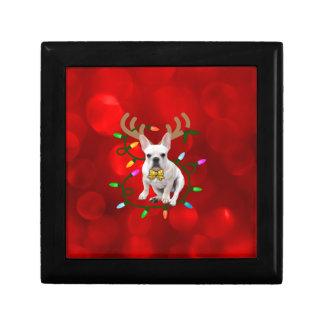 French Bulldog Reindeer Gift Box