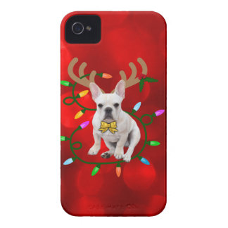 French Bulldog Reindeer iPhone 4 Case-Mate Case