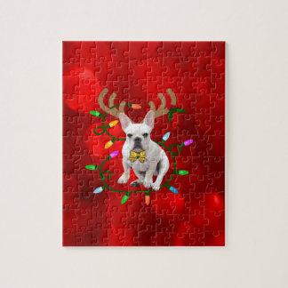 French Bulldog Reindeer Jigsaw Puzzle