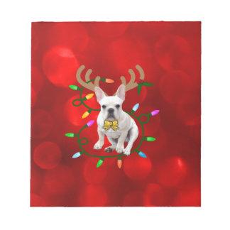 French Bulldog Reindeer Notepad