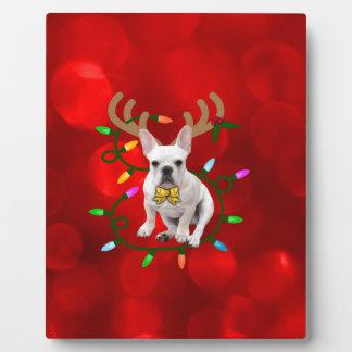 French Bulldog Reindeer Plaque